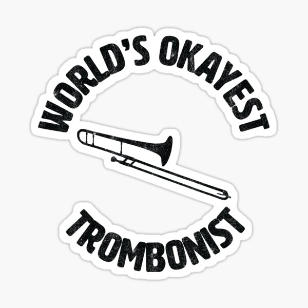 Trombone Music Band Concert Graphic Decal Sticker Car Vinyl