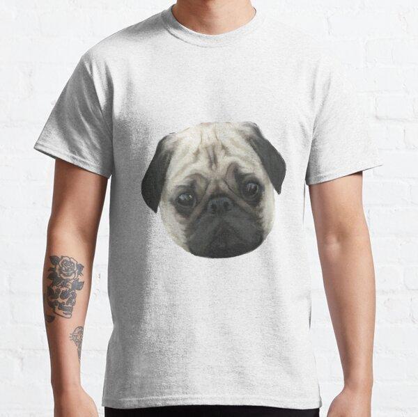 Pug Head Classic T-Shirt