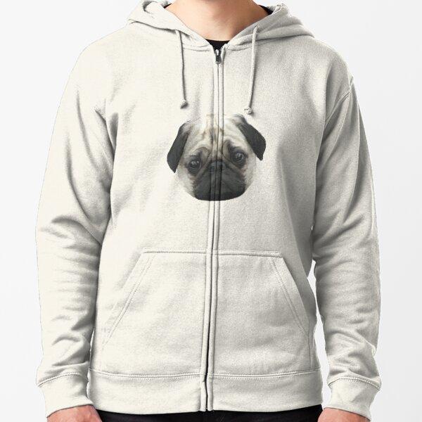 Pug Head Zipped Hoodie