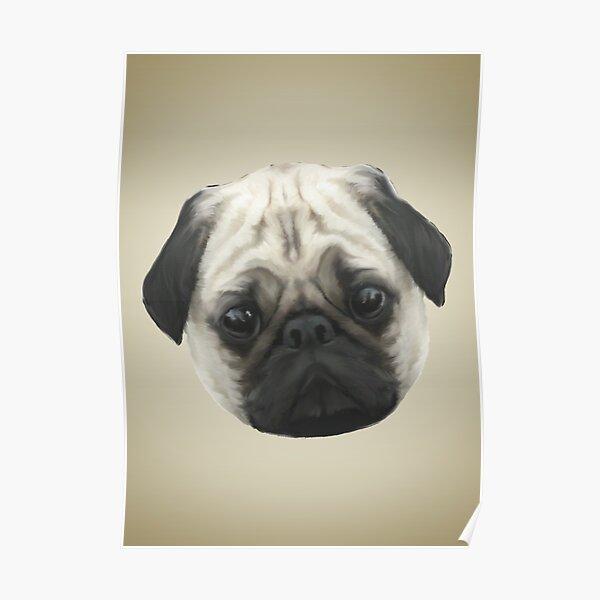 Pug Head Poster