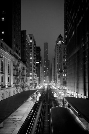 Chicago from the L Train by Silken Photography