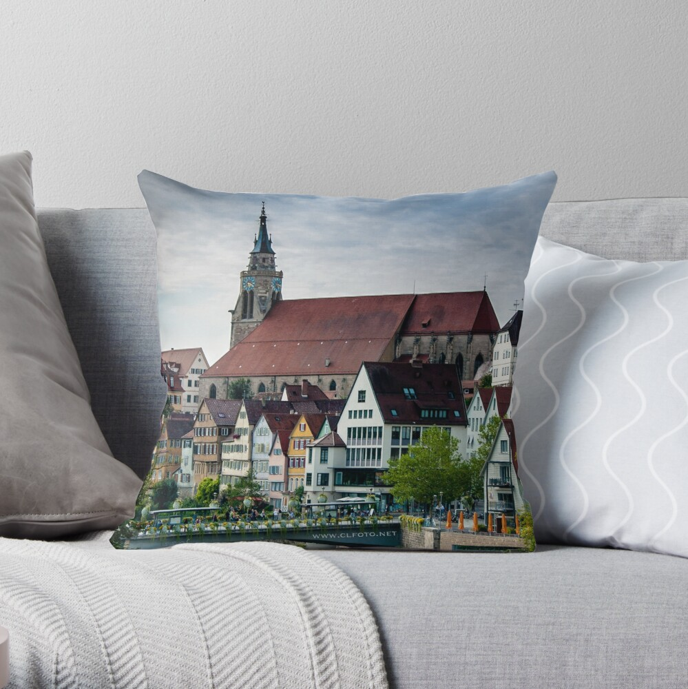Fairy Tale Town, Tübingen, Germany Throw Pillow