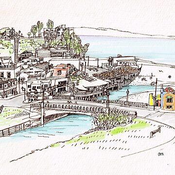 California Beach Town by Okir