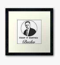 Jordan B Peterson Keep It Sorted, Bucko Framed Print