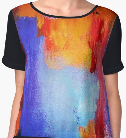Afternoon Abstract Women's Chiffon Top