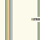 Tribe Fierce Mind logo colour stripes by Yvie Johnson