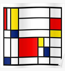 Mondrian Composition Poster