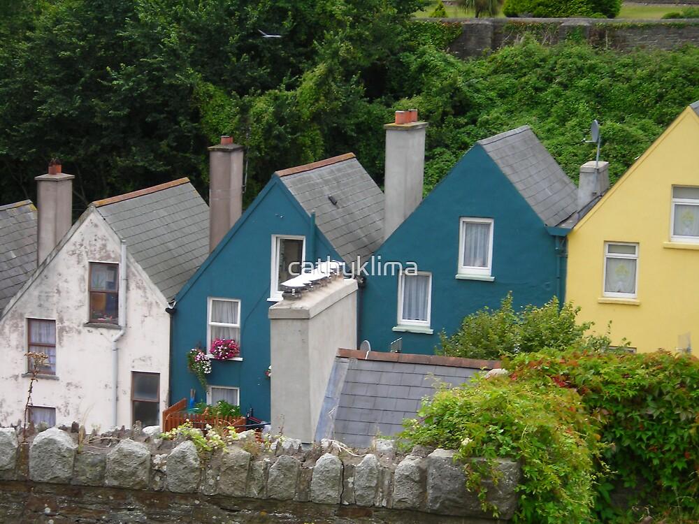 Row Houses, Cobh, Ireland by cathyklima