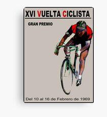 VUELTA CICLISTA: Vintage Bike Racing Advertising Print Canvas Print