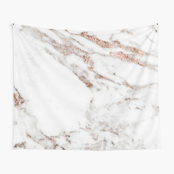 Rose gold vein marble Tapestry