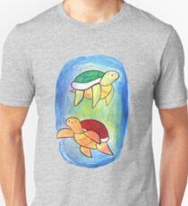 Swimming Watercolor Turtles Unisex T-Shirt