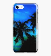 Palm Paradise - Blue and Green iPhone Case/Skin
