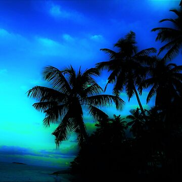 Palm Paradise - Blue and Green by TangerineKiki
