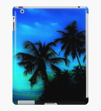 Palm Paradise - Blue and Green iPad Case/Skin