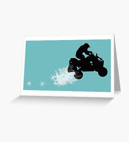 quads : dirt trail Greeting Card