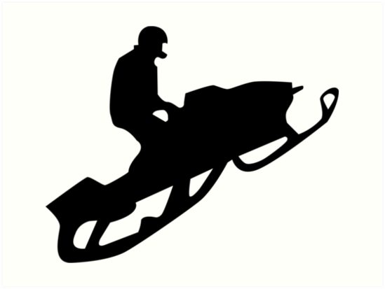 Quot Snowmobile Silhouettes Quot Art Print By Asyrum Redbubble