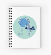 I Love Monsters Spiral Notebook