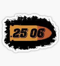 25-06 ammo can hunting label rifle bullet box Sticker