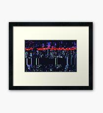 Pixel City Framed Print