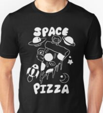 Space Pizza White Line Unisex T-Shirt