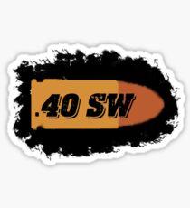 40 s&w ammo can label pistol bullet box Sticker