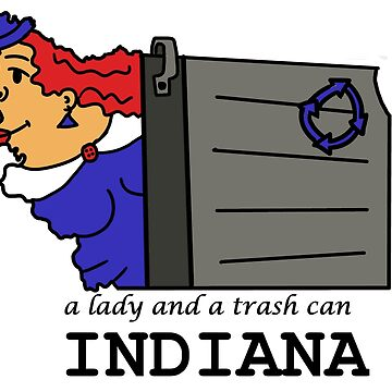 A funny map of Indiana by funnymaps