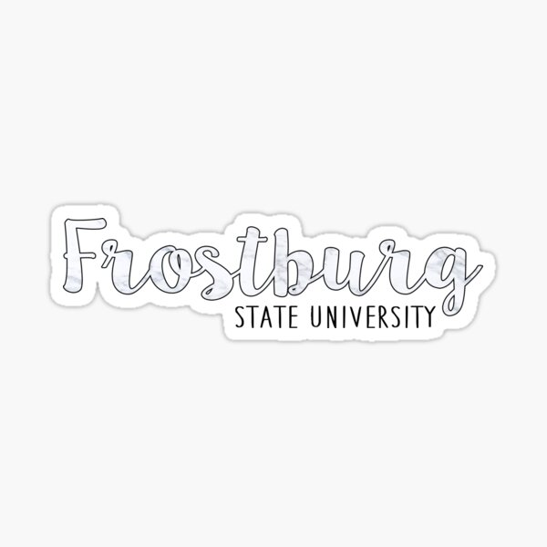Frostburg State University - B&W Marble Sticker