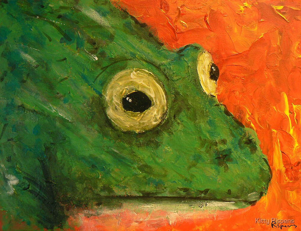 Canvas Frog by Kitty Rispens
