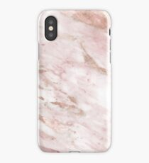 Pink marble - rose gold accents iPhone Case/Skin