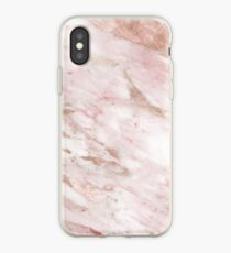 Pink marble - rose gold accents iPhone Case