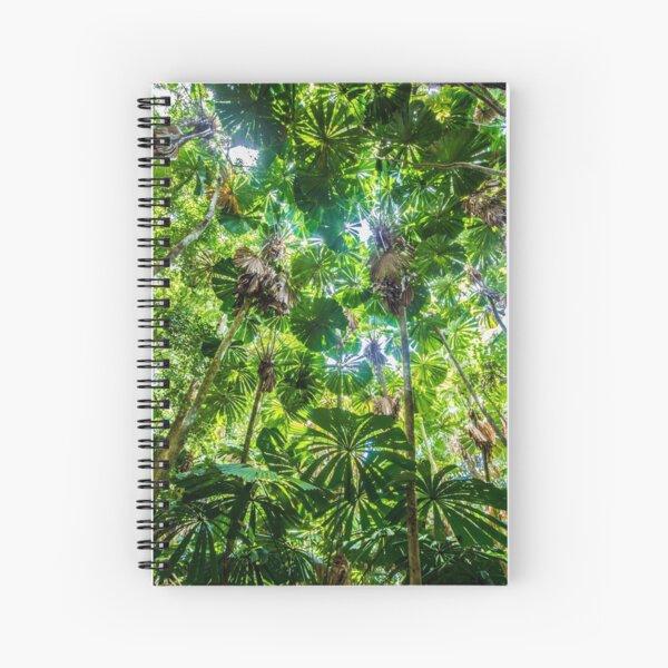 Fan palm forest Spiral Notebook