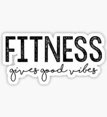 Fitness gibt gute Schwingungen Sticker