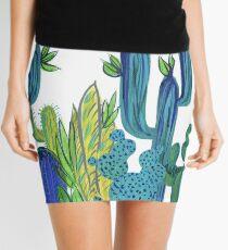 EmmaJonesArt Blue Cacti Mini Skirt