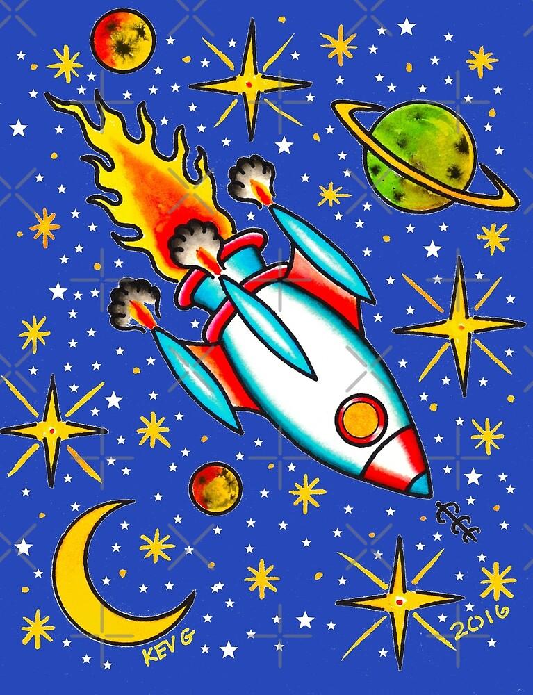 Rocket to the Stars - Art By Kev G by ArtByKevG