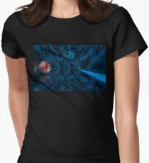 Space Cube Women's Fitted T-Shirt