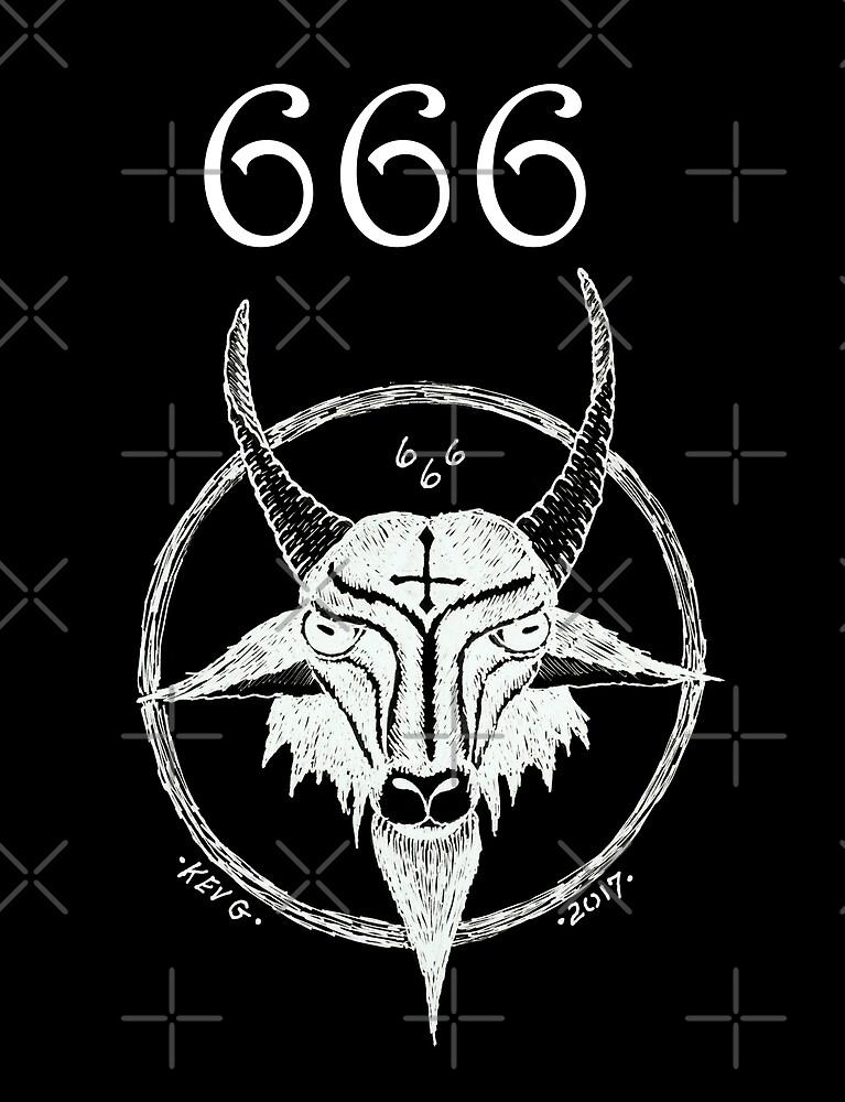 666 WHITE INVERT - Art By Kev G by ArtByKevG