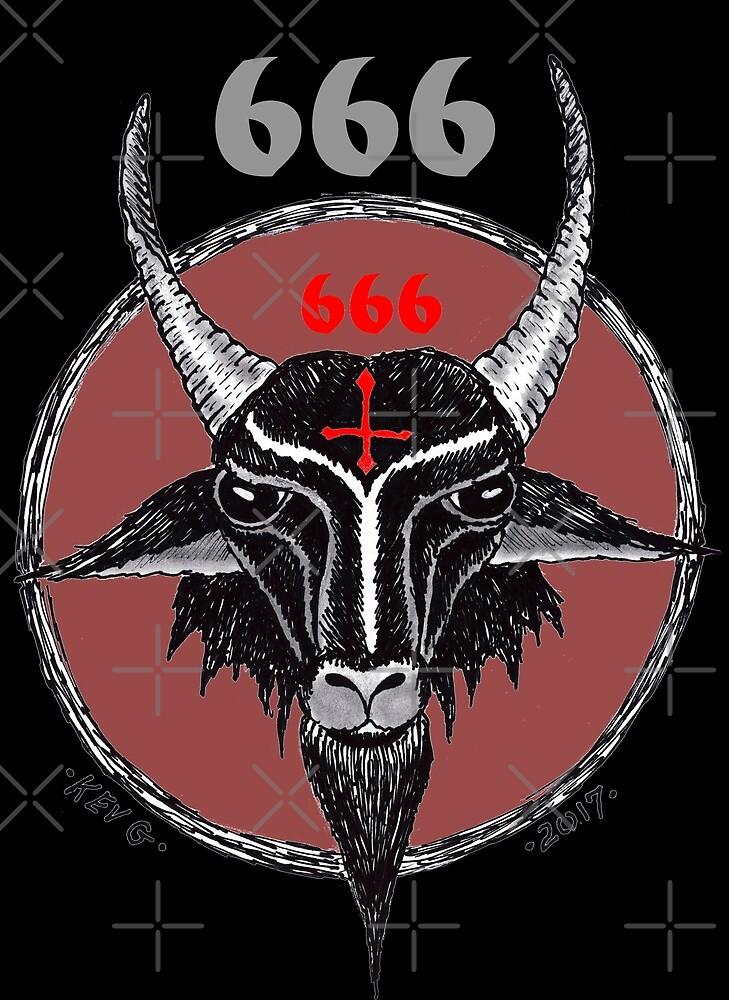 SIXSIXSIX 666 - Art By Kev G by ArtByKevG