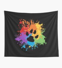 Paw Pride: Dark Wall Tapestry