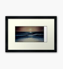 Atlantic Beach Sunset Framed Print