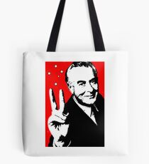 Gough instead of che, white on red Tote Bag