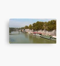 Houseboats on the Tiber Canvas Print