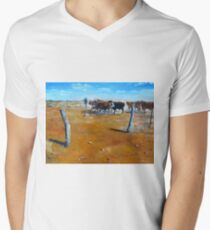 A painting inspired by Carisbrooke Station Men's V-Neck T-Shirt