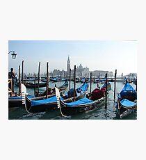 Gondolas Photographic Print