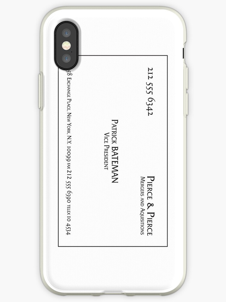 Patrick Bateman Business Card (vertical) by Troy V