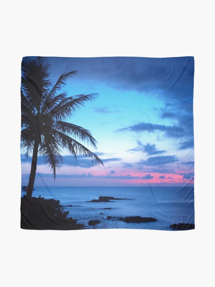 Vista alternativa de Pañuelo Tropical Island Pretty Pink Blue Sunset Paisaje