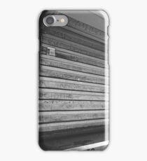 Corner Kiosk, Los Angeles, CA - Black and White iPhone Case/Skin