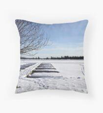 Winter Marina Throw Pillow