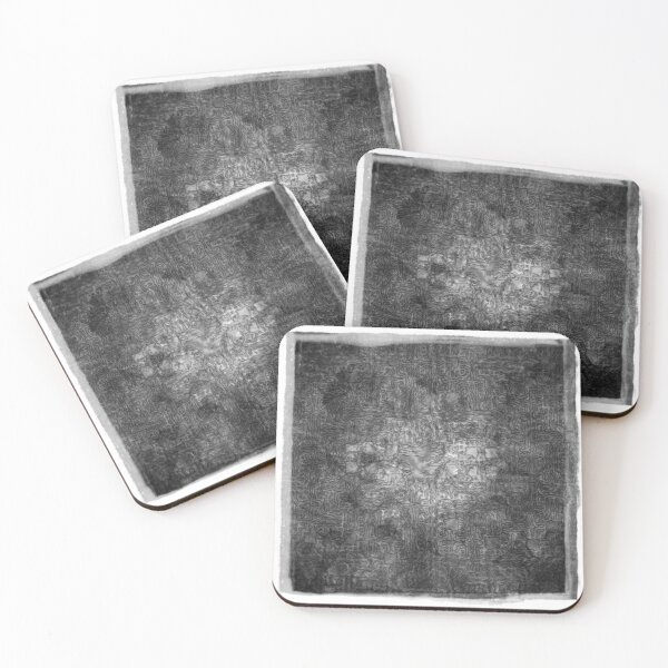 The Atlas of Dreams - Plate 36 (b&w) Coasters (Set of 4)