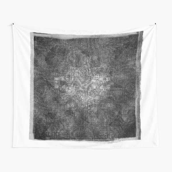 The Atlas of Dreams - Plate 36 (b&w) Tapestry