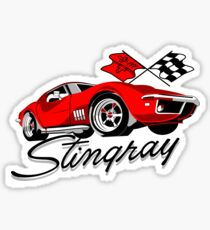 Classic Corvette Stingray Sticker